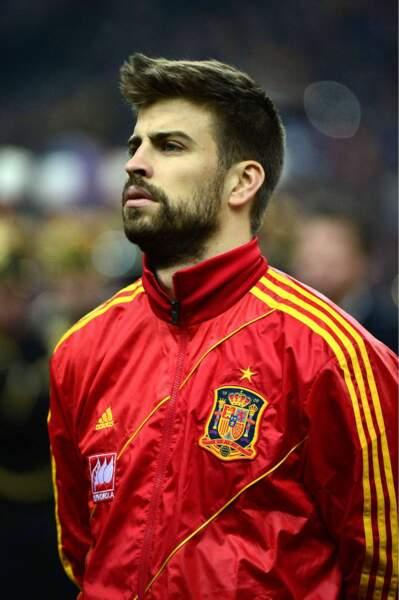 Le footballeur espagnol Gérard Piqué, 27 ans (accessoirement compagnon de Shakira)
