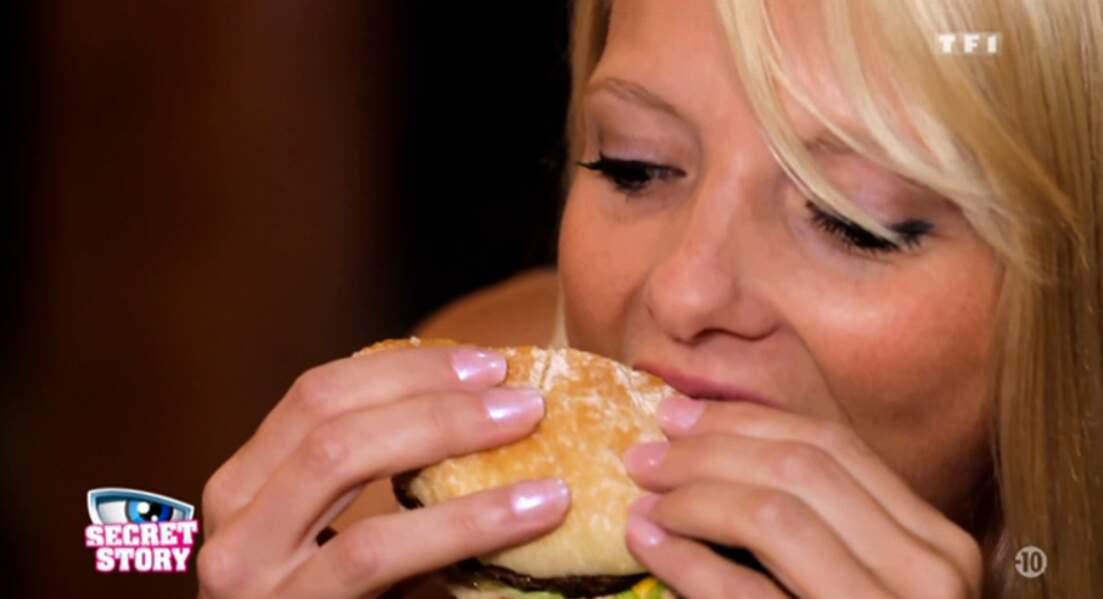 En tout cas, elle aime la junk food !