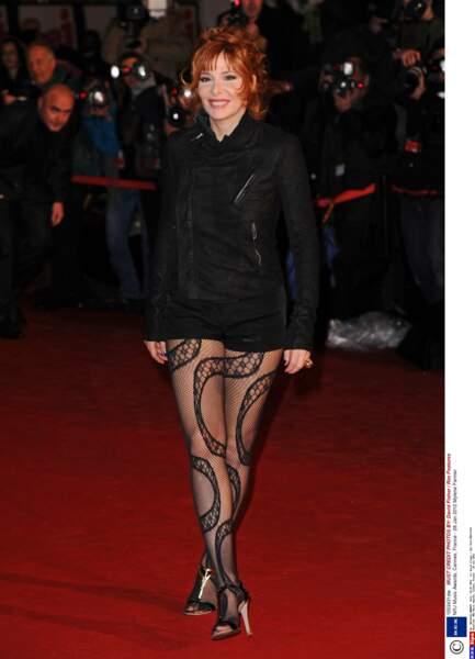 Mylene Farmer toujours là : en 2012 elle reçoit un Award de diamant pour l'ensemble de sa carrière.