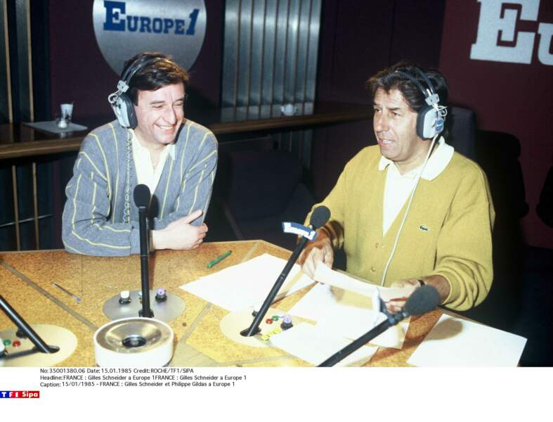 Sur Europe 1 avec Gilles Schneider en 1995.