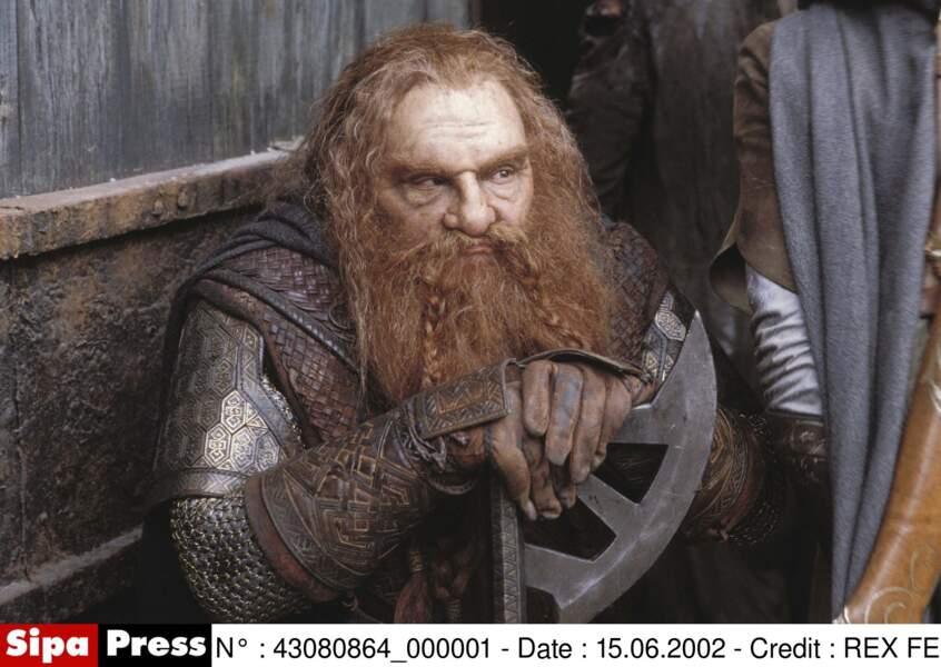 John Rhys-Davies dans le rôle du Nain Gimli