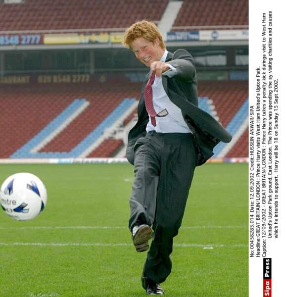 Le flamboyant rouquin toujours heureux de jouer au ballon !