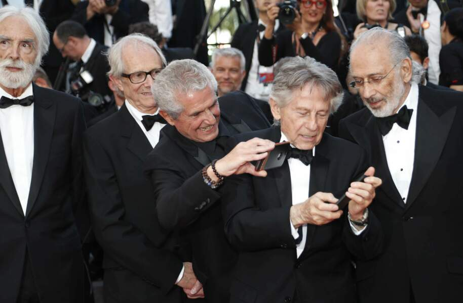 Les papis Claude Lelouch et Roman Polanski découvrent les smartphones