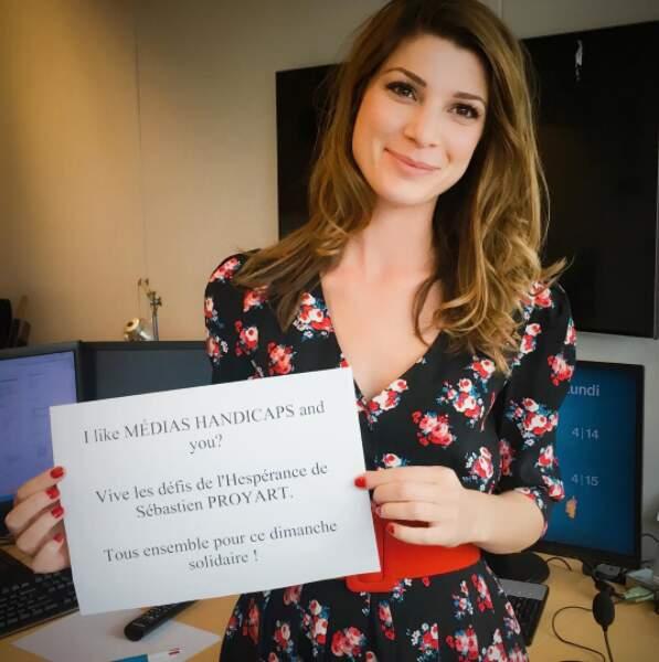 La jeune femme a récemment soutenu l'action de l'Association Nationale Médias Handicaps