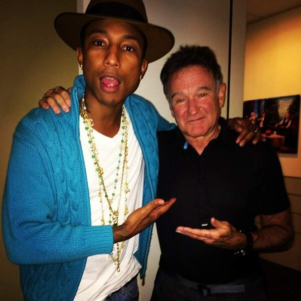 Pharrell est une star, du coup, il traîne avec des stars. Ici Robin Williams.