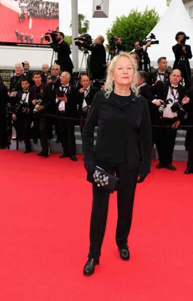 On aurait aimé voir la styliste Agnès B dans une tenue un peu plus étudiée.
