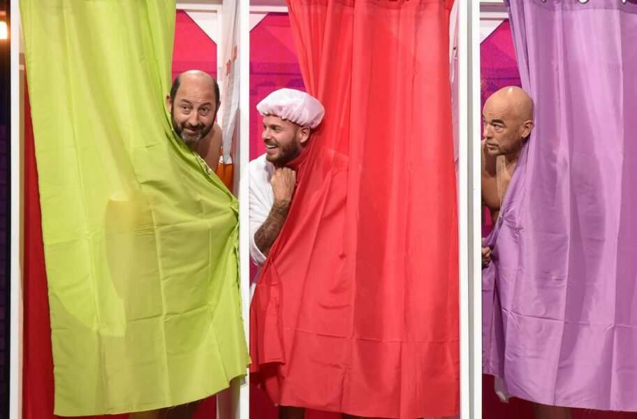 L'heure de la douche pour Kad Merad, Pascal Obispo et M Pokora