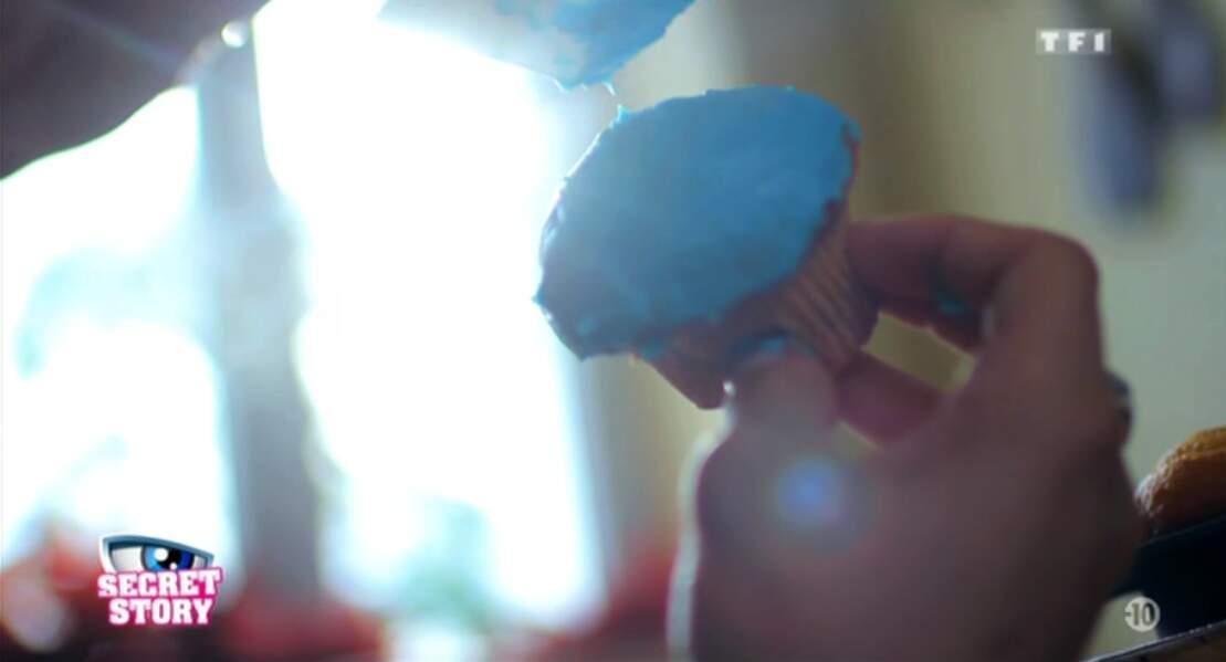 ... mais aussi des cupcakes bleu turquoise.