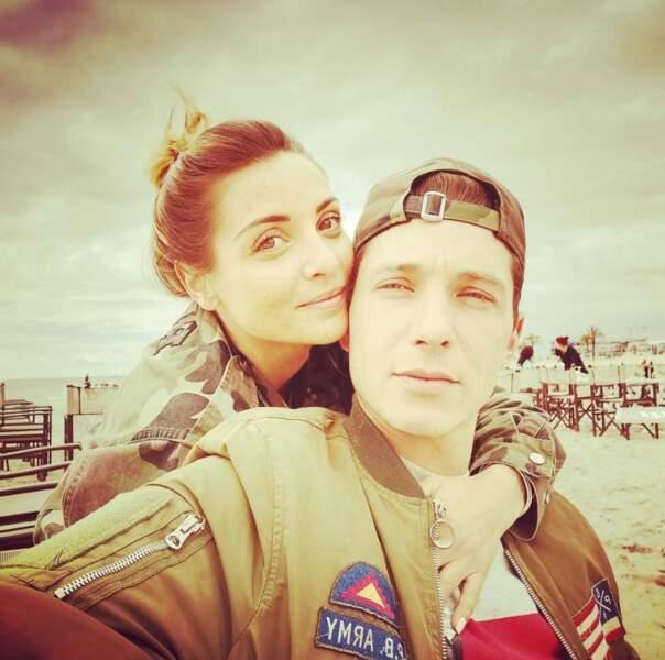 Selfie de couple pour Priscilla Betti et Gilles.
