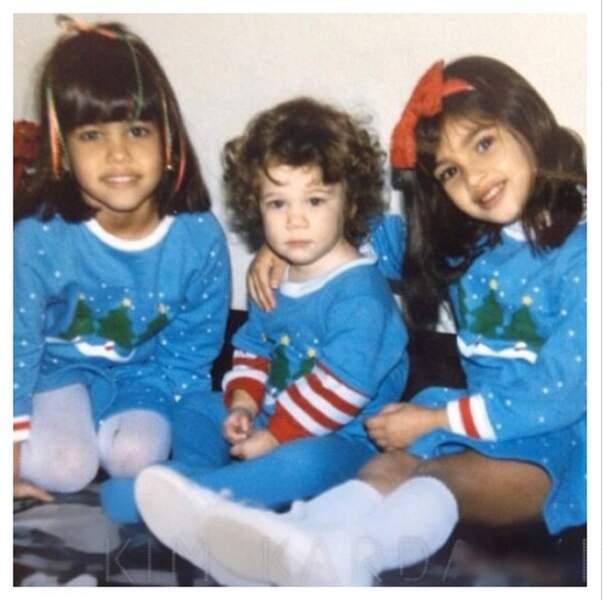 Mais passons maintenant au Noël des célèbres soeurs Kardashian !
