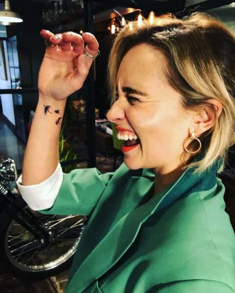 Emilia Clarke s'est fait tatouer les dragons de Daenerys sur le poignet