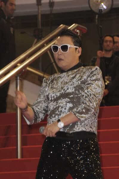 LA star de la soirée, avec trois NRJ Music Awards, le Coréen Psy.