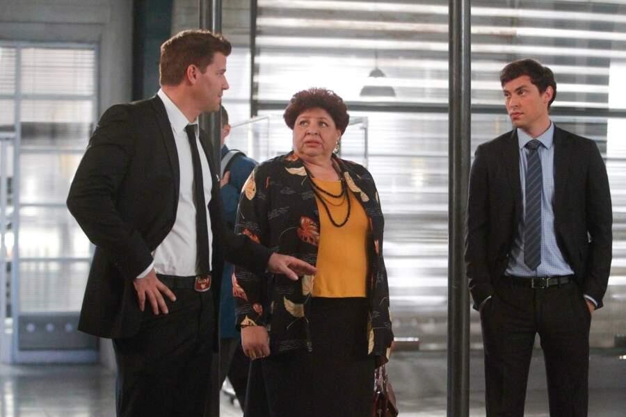 Patricia Belcher jouait la procureur Caroline Julian, qui est d'ailleurs à l'origine du baiser entre Bones et Booth