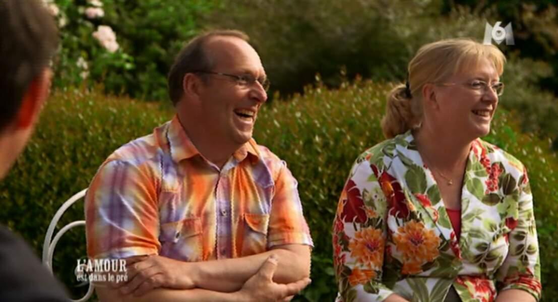 Visiblement, Thierry, le chevrier, est en accord avec sa chérie Véronique côté look !