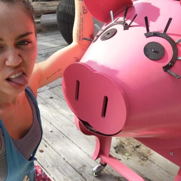 Oui, elle adore les cochons !