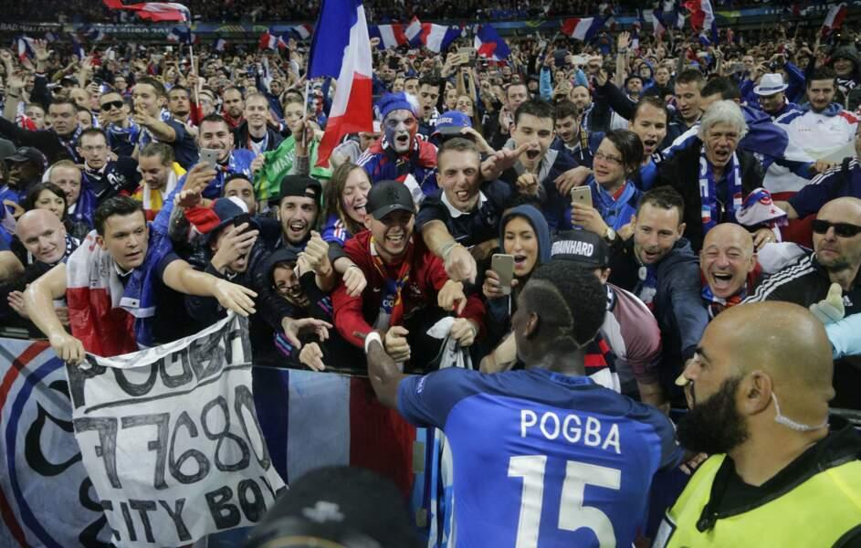 Pogba se rue sur les supporters français