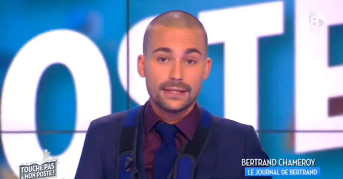 Bertrand Chameroy a misé sur un look bicolore