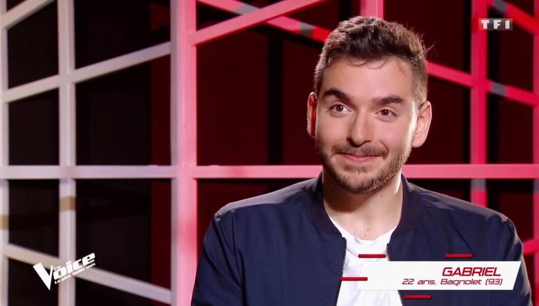 Gabriel, 22 ans, est dans l'équipe de Florent Pagny