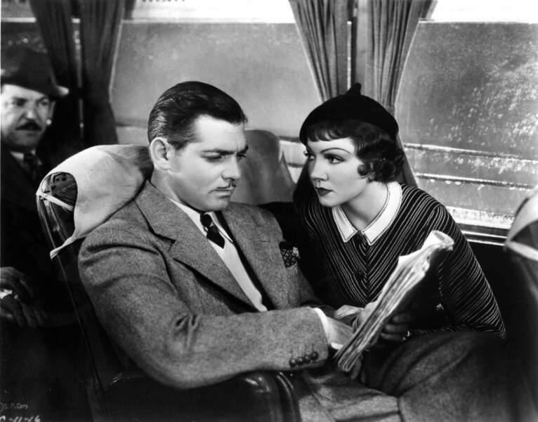 Une certaine Claudette Colbert fait le voyage New York-Miami aux côtés d'un certain Clark Gable…
