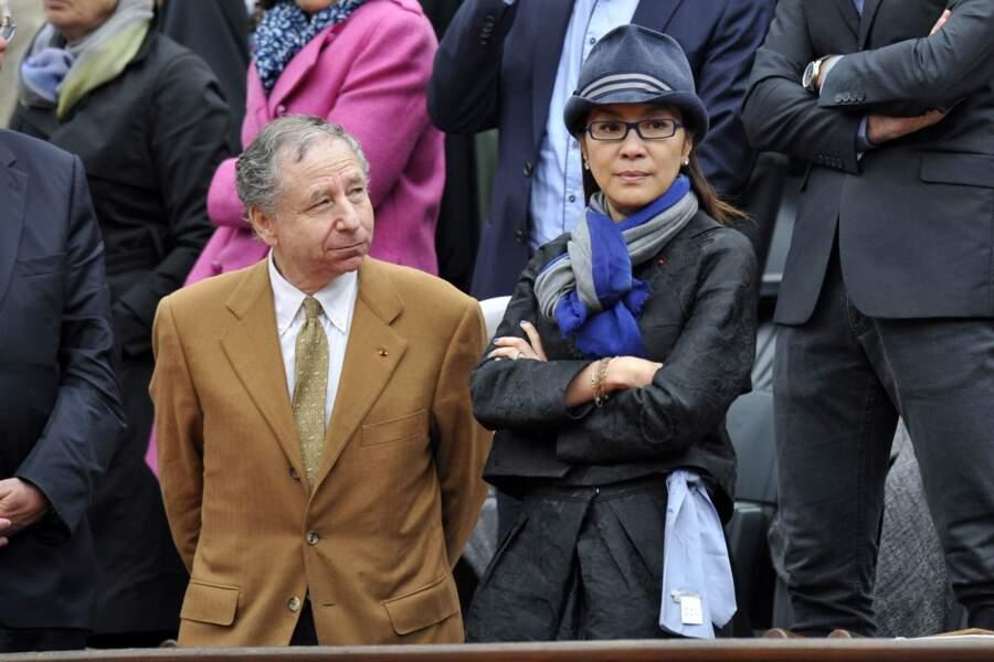 Le président de la FIA, Jean Todt et sa compagne Michelle Yeoh.