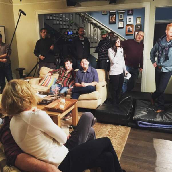 Et le tournage de Modern Family suit son cours, toujours dans la bonne humeur !