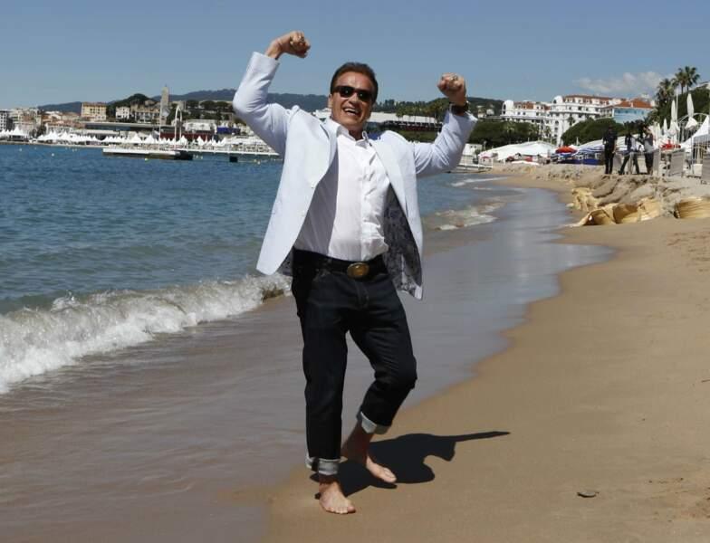 Arnold Schwarzenegger trop content d'être là !