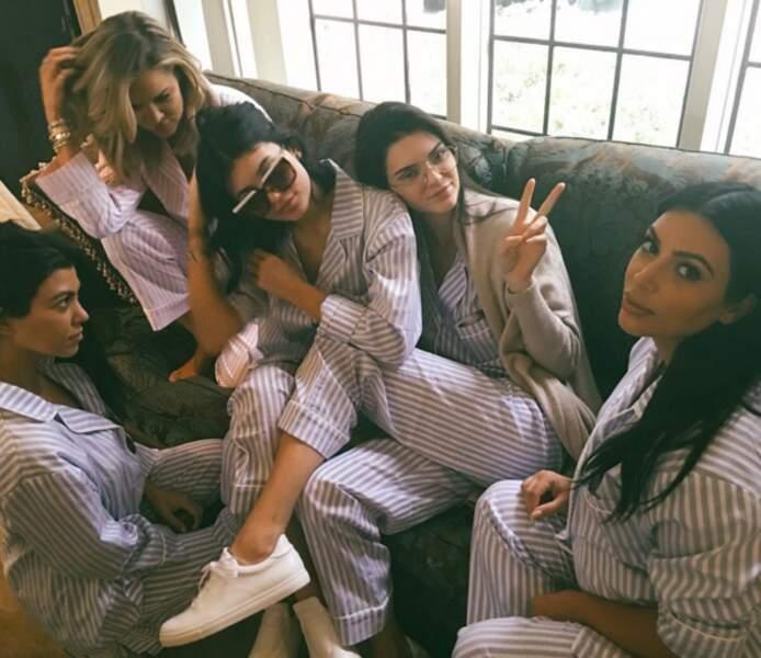 La baby shower de Kim était sous le signe du pyjama.