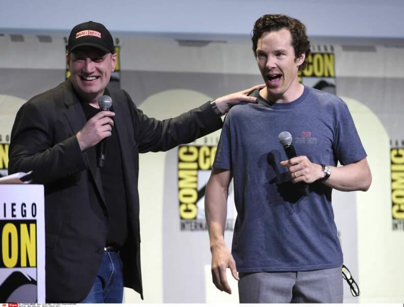 Le Président des studios Marvel, Kevin Feige, a présenté DOCTOR STRANGE avec son héros, Benedict Cumberbatch