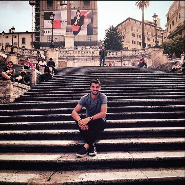 Grigor Dimitrov en profite aussi pour faire du tourisme