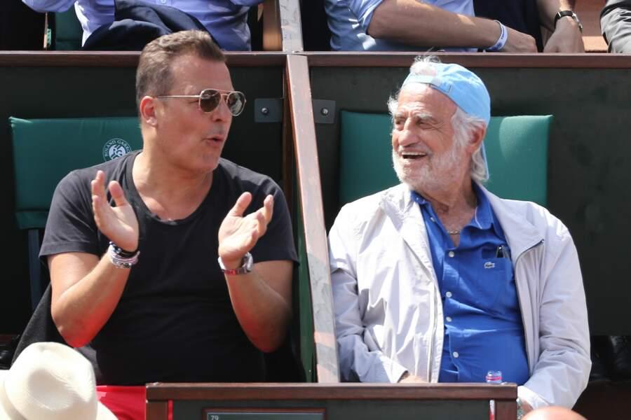 Jean-Roch fier d'être à côté de Jean-Paul Belmondo