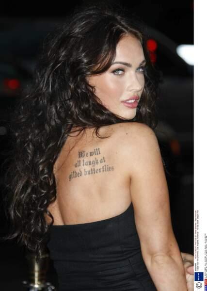 Megan Fox (New Girl) rêve de ressembler à Angelina Jolie. Pour les tatouages, c'est réussi !