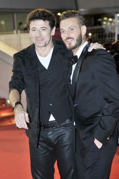 Patrick Bruel et son ami M. Pokora sur le tapis rouge des NRJ Music Awards