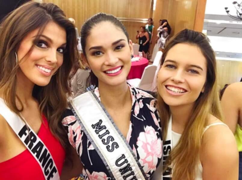 Ici avec Miss Univers et Miss Israël