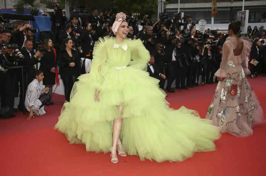 L'actrice et mannequin Deepika Padukone a réussi son petit effet avec cette… robe ?