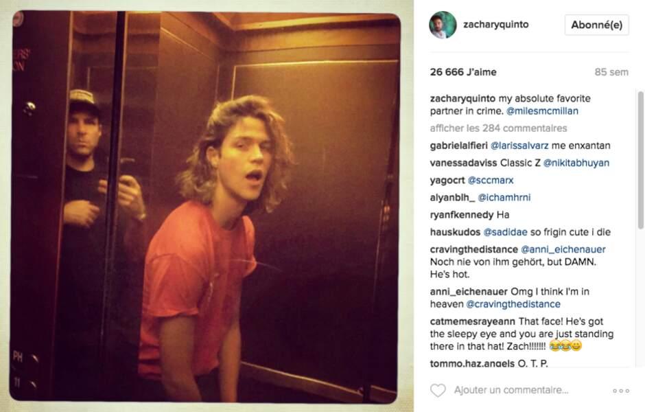 """""""Non Zach', pas de selfie dans l'ascenseur !"""""""