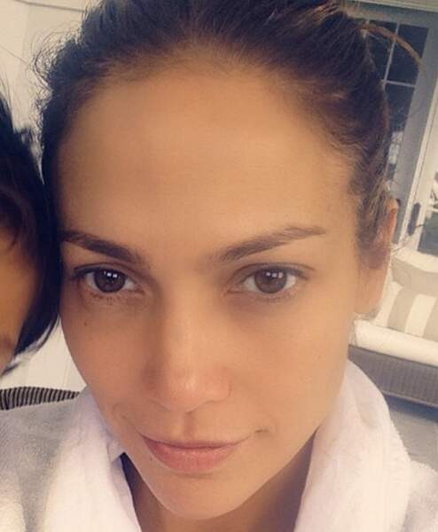 Jennifer Lopez sans maquillage