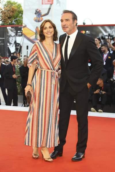 Jean Dujardin sur le tapis rouge avec sa femme Nathalie Pechalat