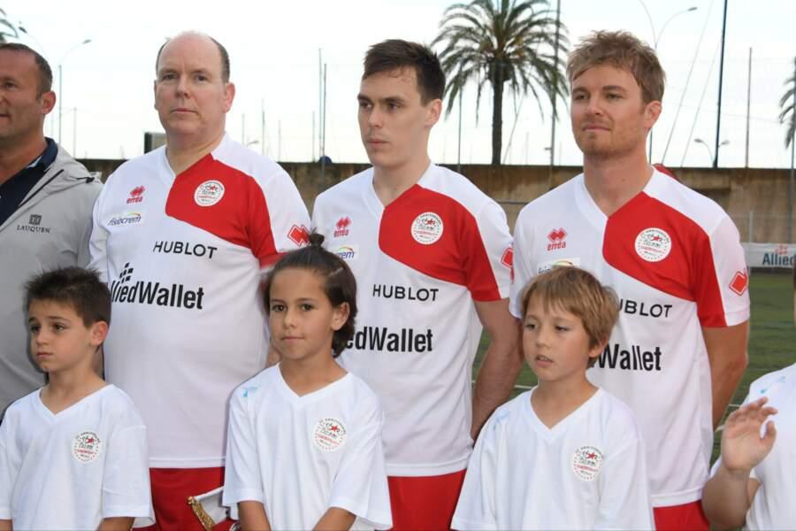 Les membres de l'A.S Star Team for the Children étaient emmenés par le Prince Albert II de Monaco
