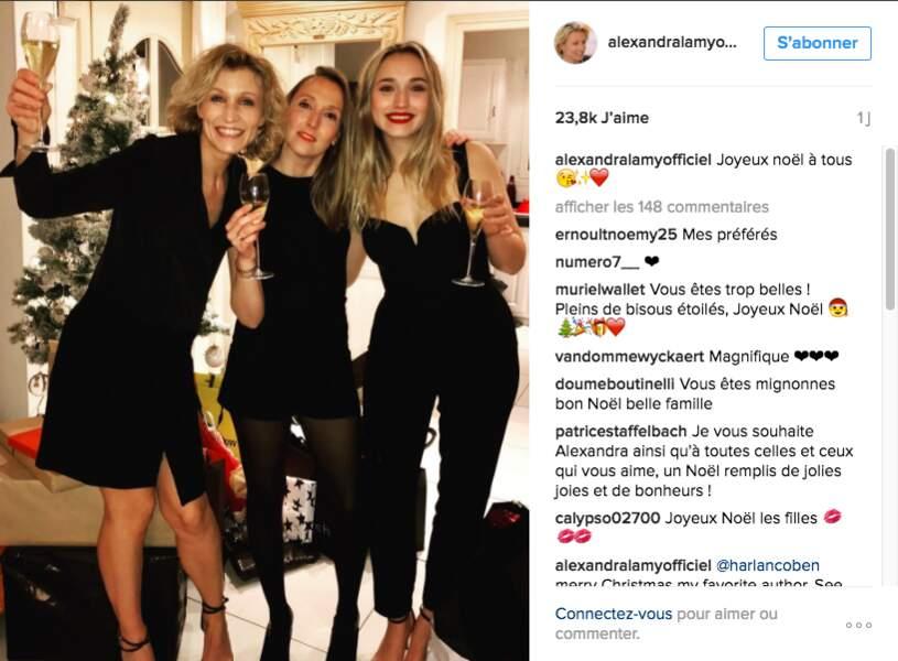 Rien de mieux qu'un moment entre filles pour Alexandra Lamy, sa soeur Audrey et sa fille Chloé Jouannet