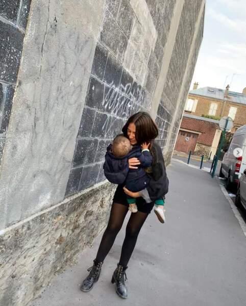 Izia a passé du temps de qualité avec son bambin.