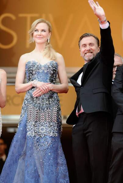 Nicolas Kidman et Tim Roth pour la présentation de Grace de Monaco.