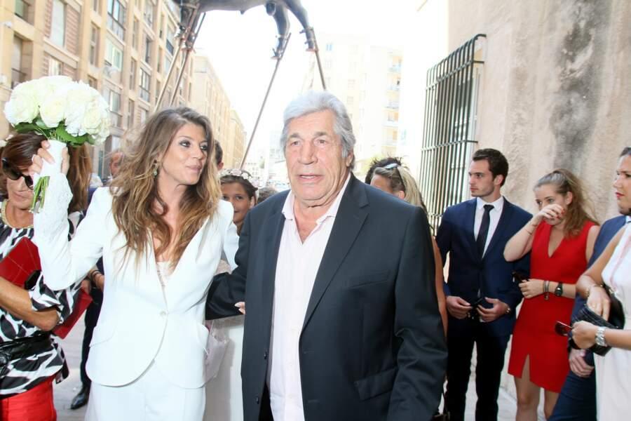 Pour l'occasion, le comédien et père du marié, Jean-Pierre Castaldi, a fait le déplacement.