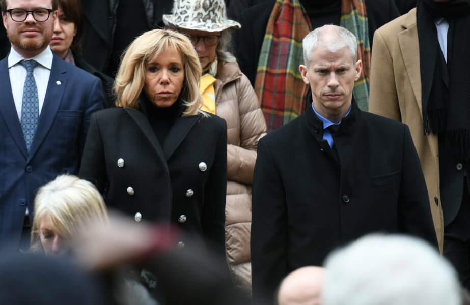 Brigitte Macron et Franck Riester