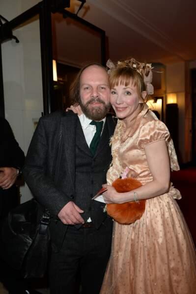 Philippe Katherine et Julie Depardieu. Le chanteur est nommé pour le meilleur second rôle pour Le grand bain