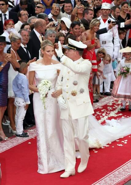 Le tapis rouge était de mise pour les noces de Charlene et du Prince Albert de Monaco (2011)
