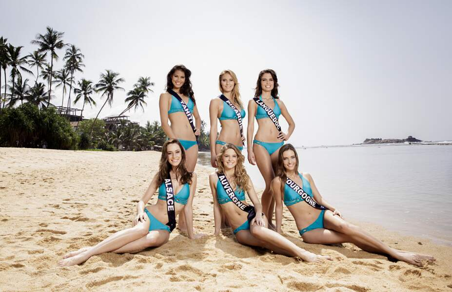 Miss Tahiti, Miss Picardie, Miss Languedoc, Miss Alsace, Miss Auvergne, Miss Bourgogne