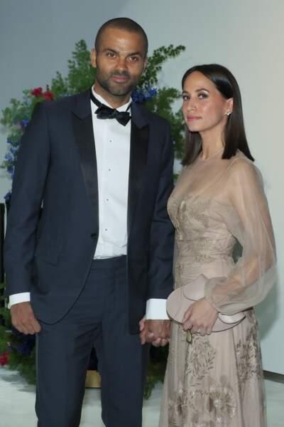 Tony Parker et son épouse Axelle Parker au gala de la Croix Rouge