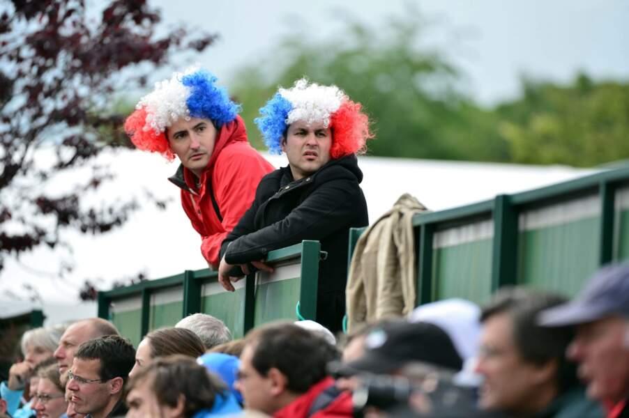 des supporters français...