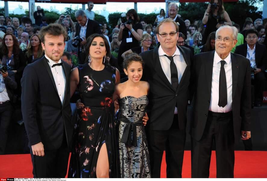 Michel Legrand et l'équipe du film La Rancon de la gloire lors de sa présentation à la Mostra de Venise en 2014
