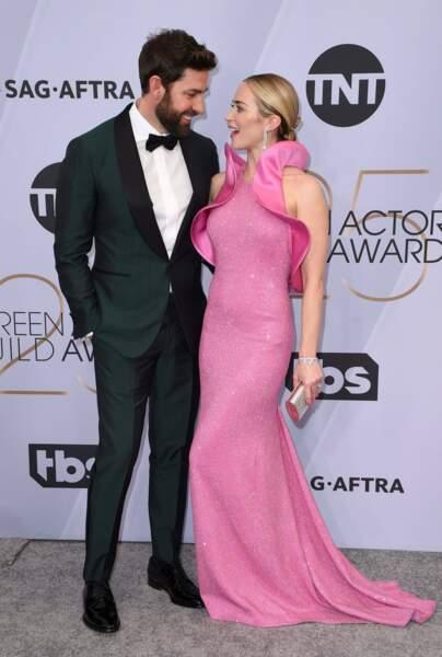 Encore un beau couple : primée pour Sans un bruit, Emily Blunt remercie son mari John Krasinski